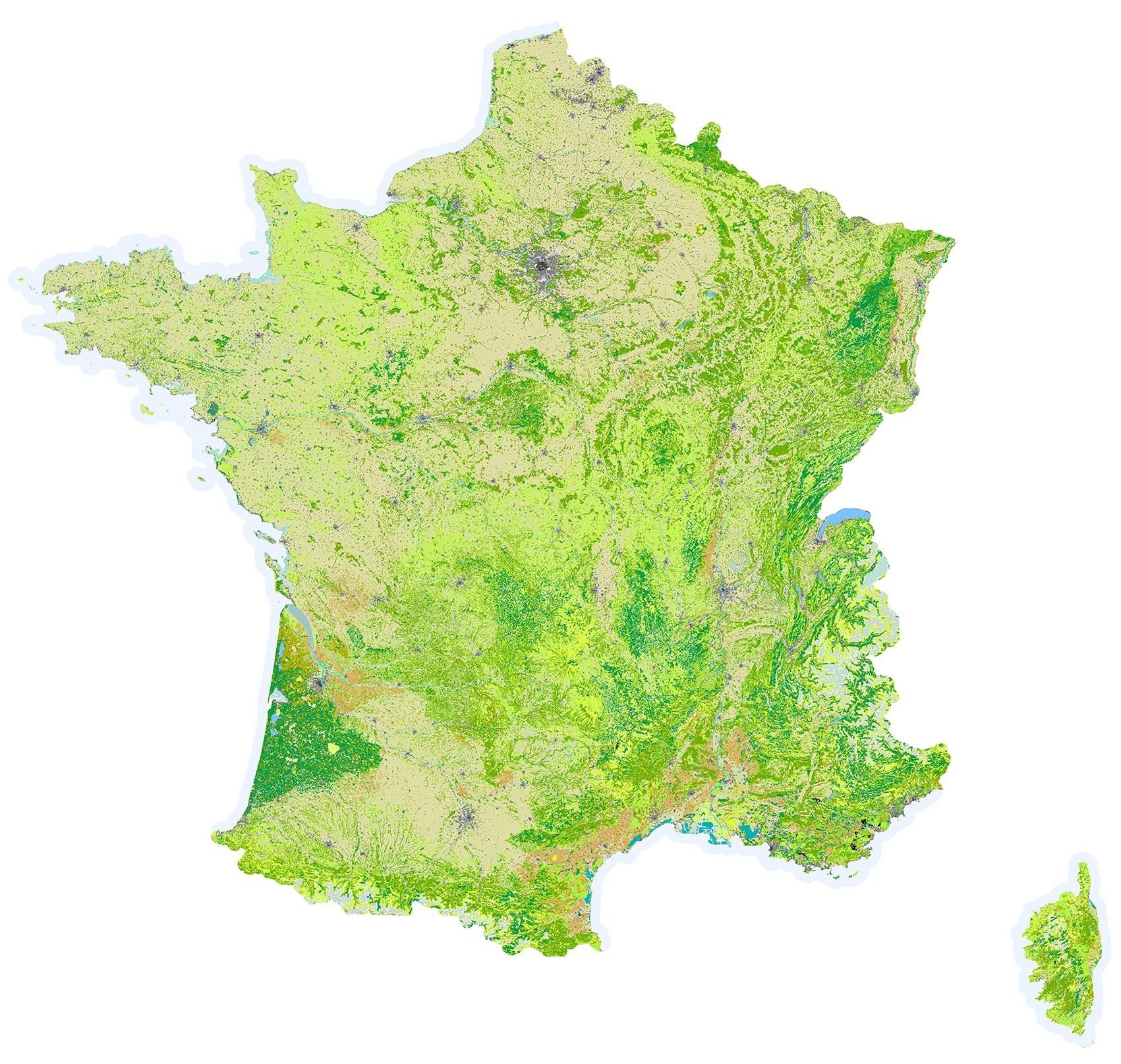 Carte france region ville