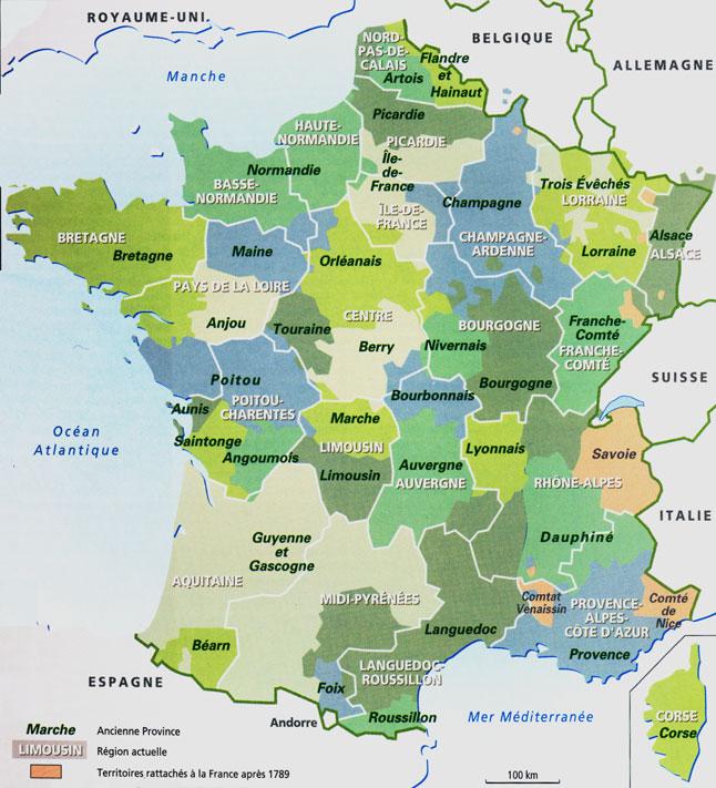 Régions de france liste