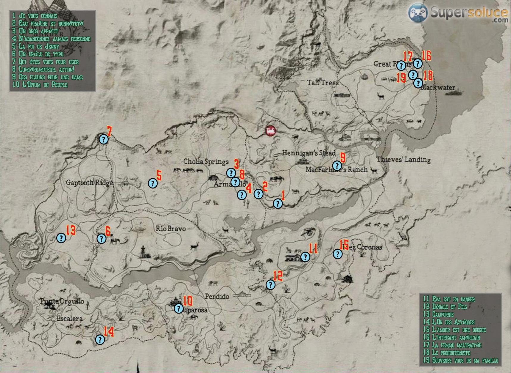 Carte des services