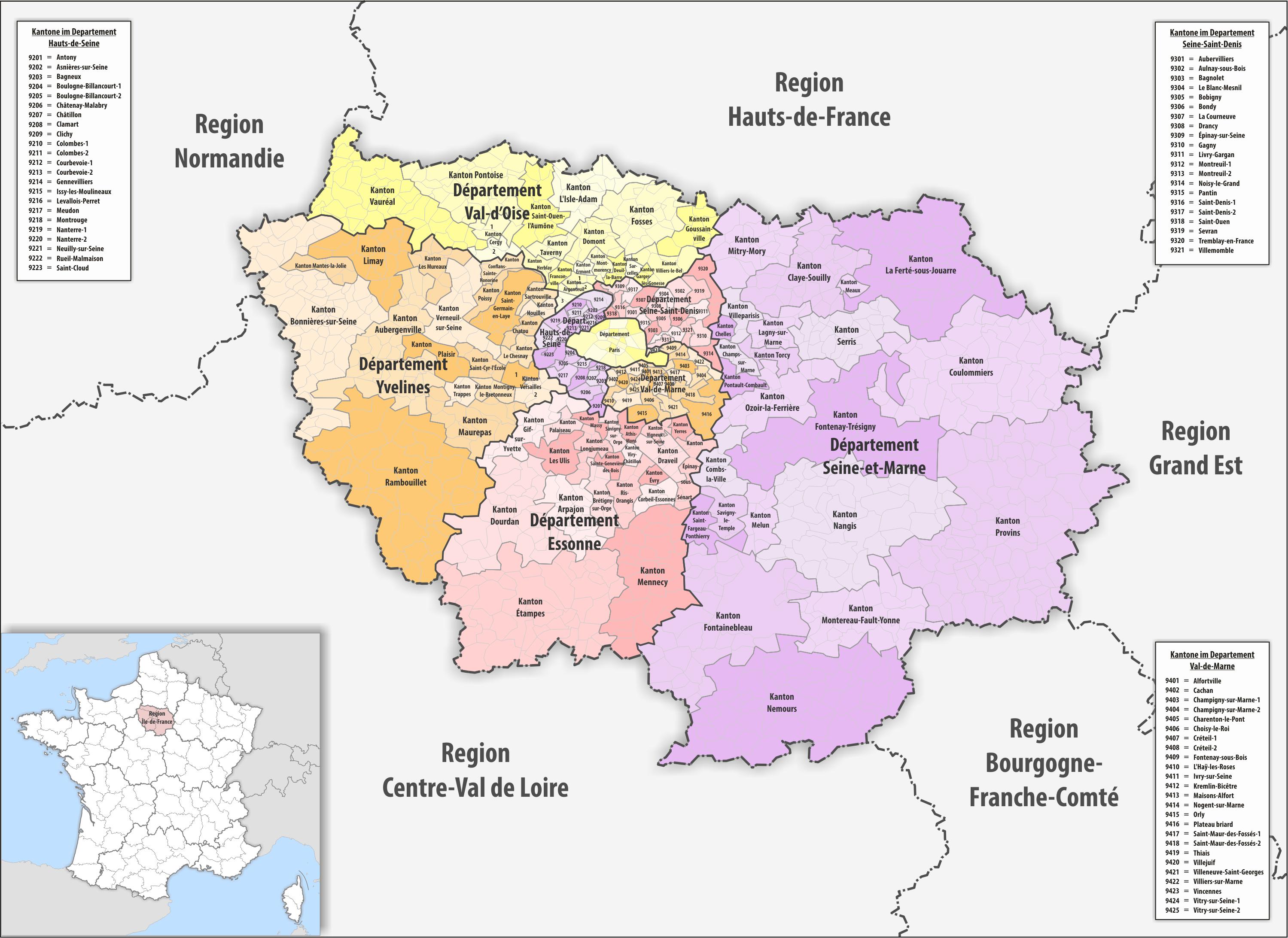 Region de france 2016