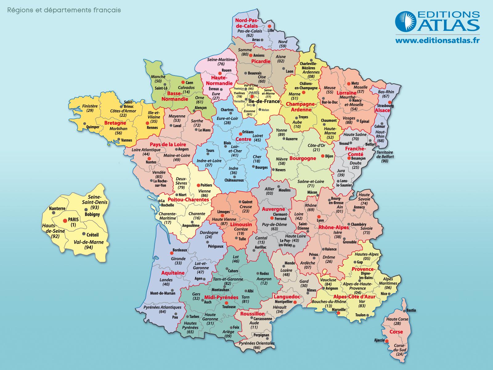 Atlas carte geographique