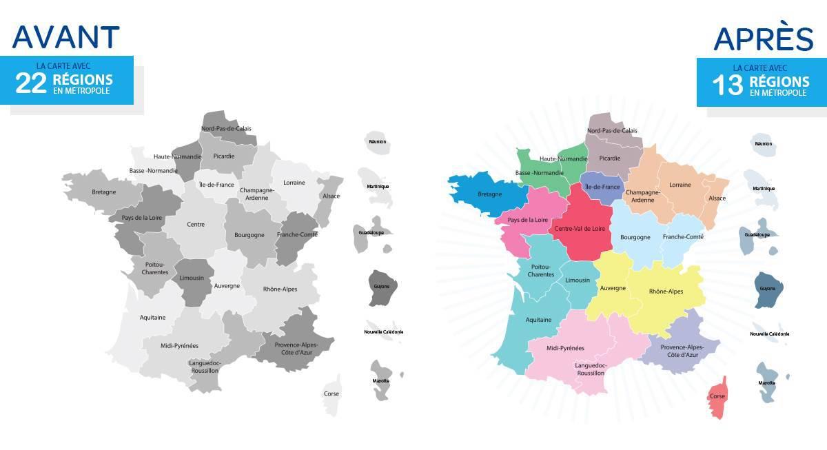 13 nouvelles régions