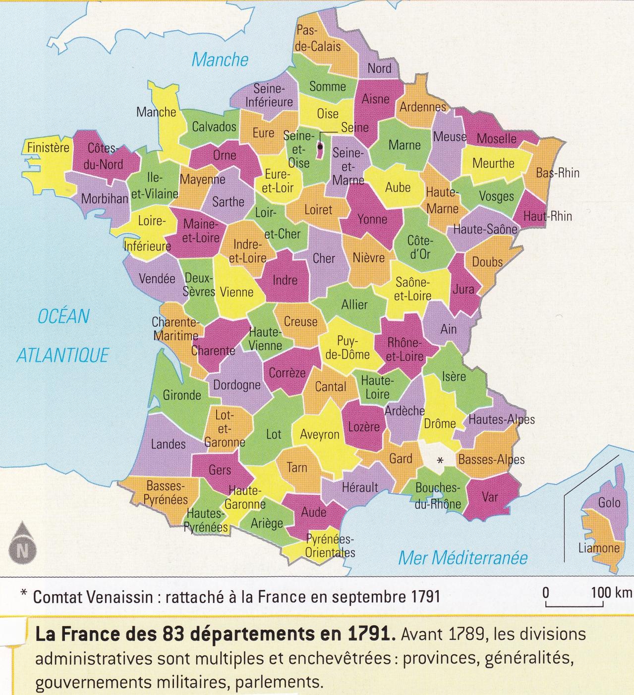 Les departement francais