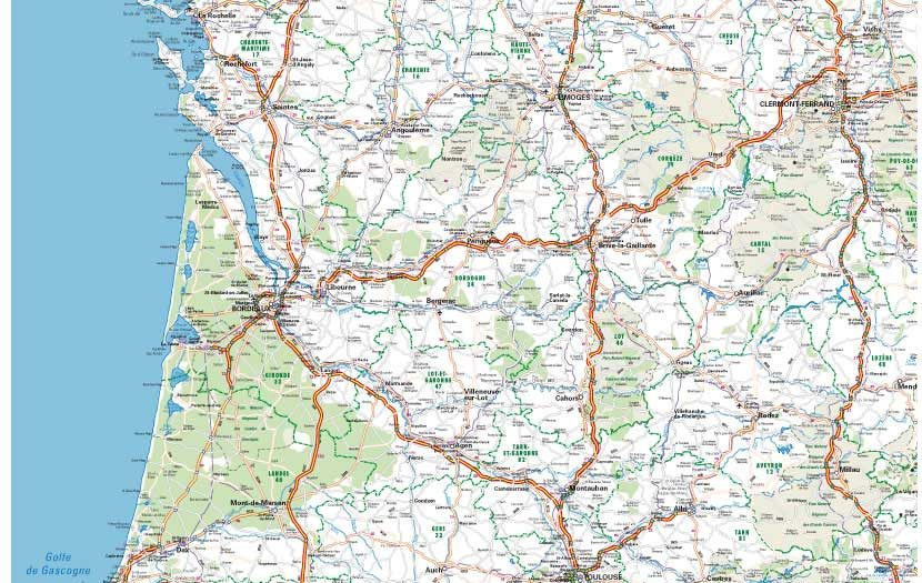 Carte routiere sud