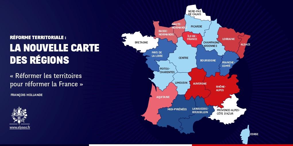 Les regions de france liste