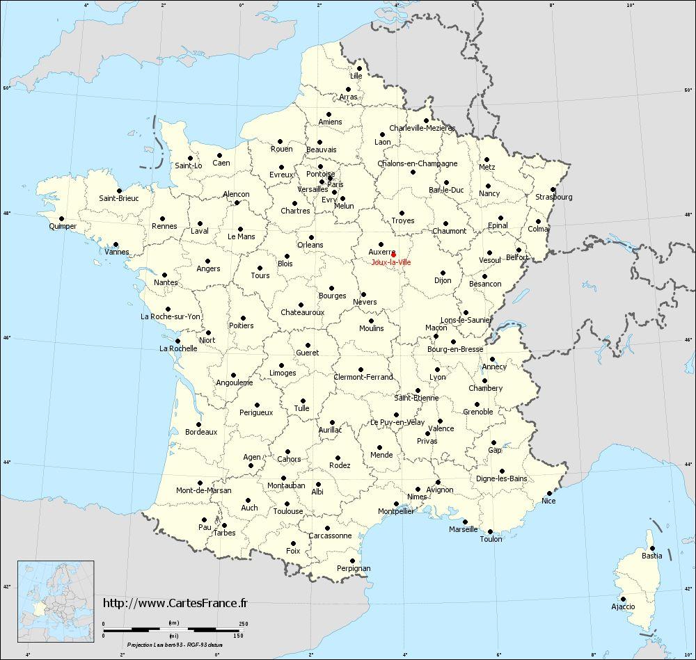 Carte de france département ville