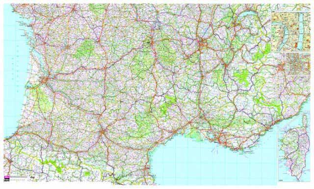 Carte routiere sud france