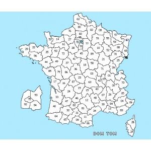 Carte de france à colorier avec départements