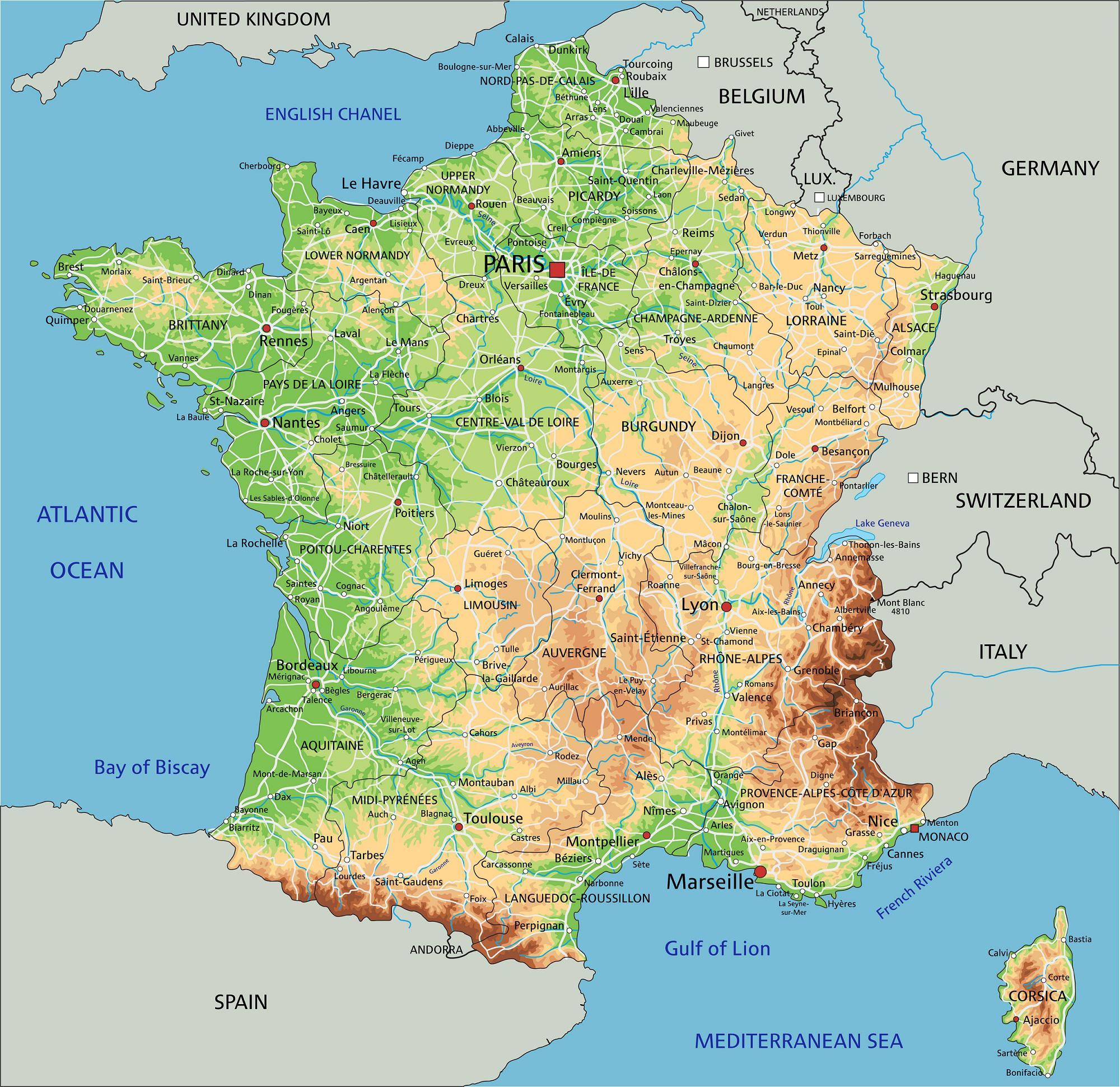Carte france avec ses villes