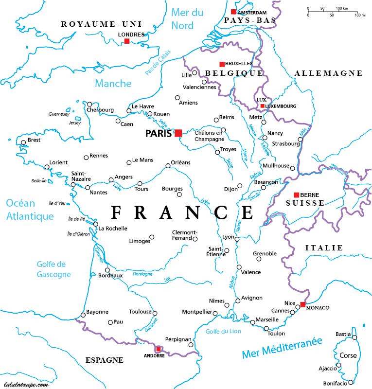 Carte ville francaise