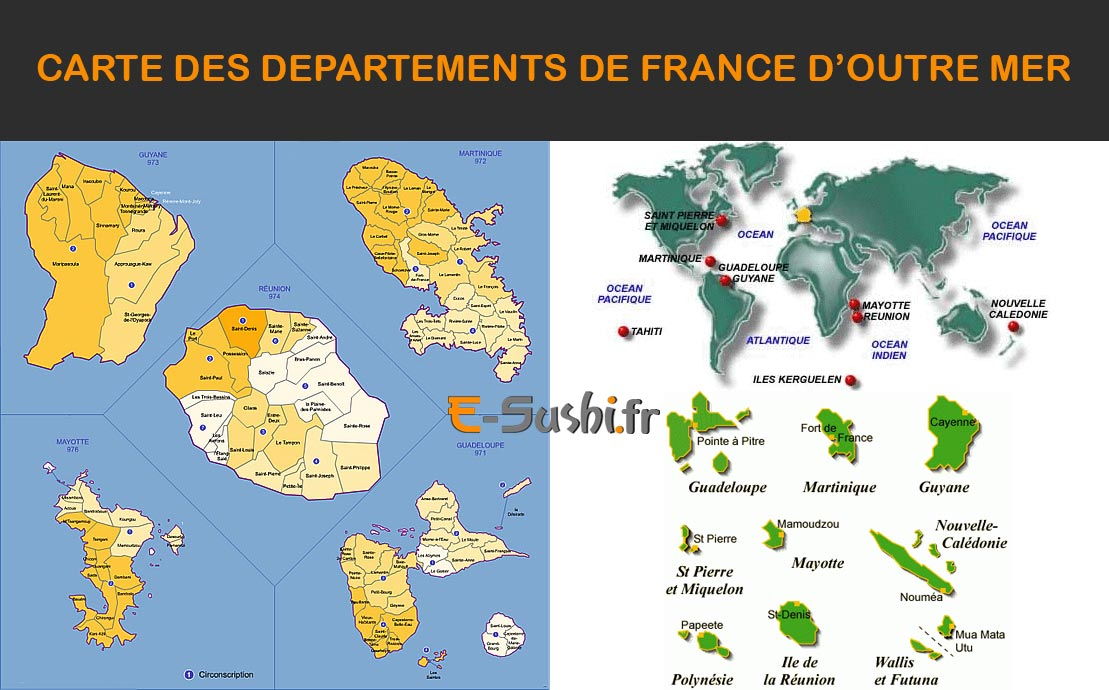 Departements francais outre mer
