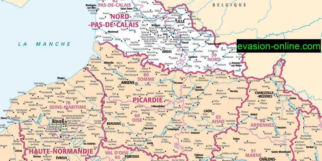 Carte de france detaillée departement