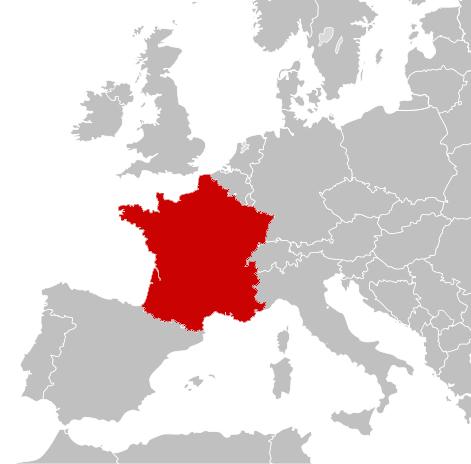 Carte france europe