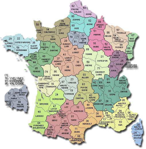 Carte de france detaillee des villes