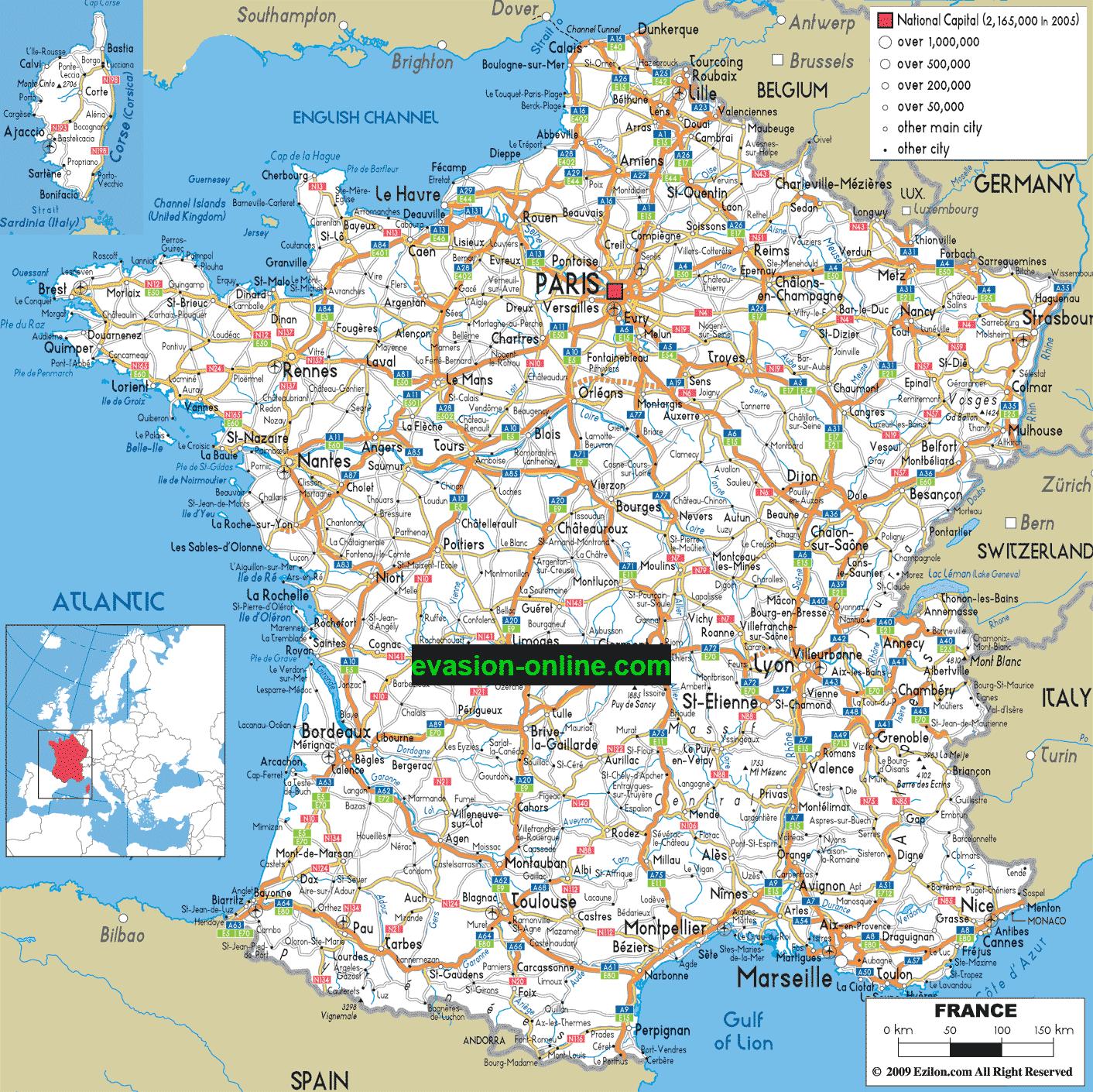 Carte autoroute france