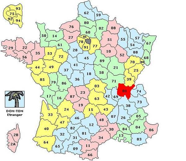 Carte de france par régions et départements