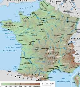 Detail carte de france
