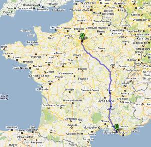 Carte departement francais avec villes