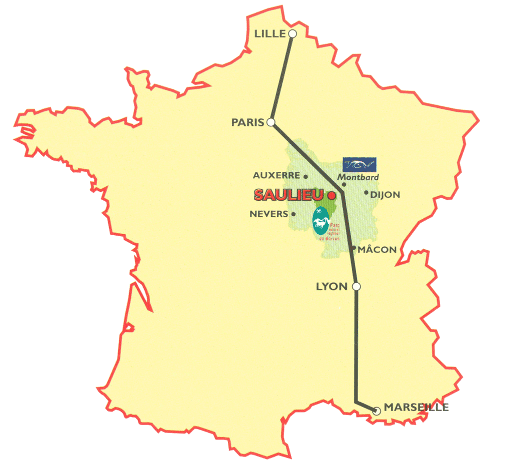 Lyon carte france