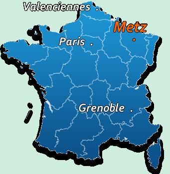 Metz carte de france