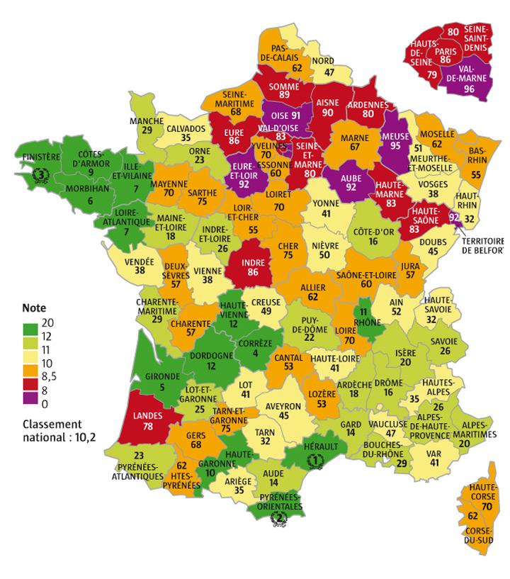 Départements français 2016