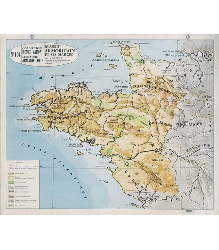 Carte geographique ancienne france
