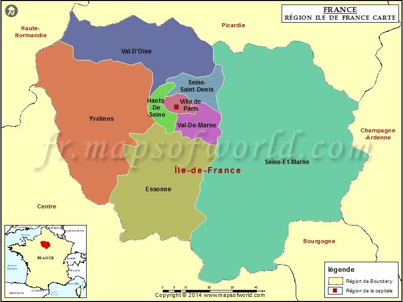 Départements de france carte géographique