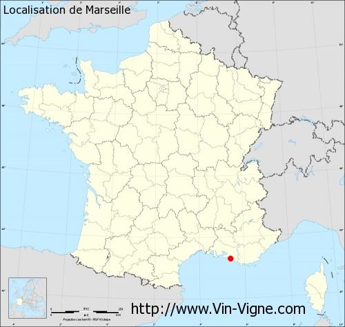 Marseille carte de france