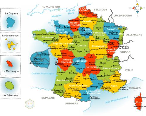 Carte de france de region