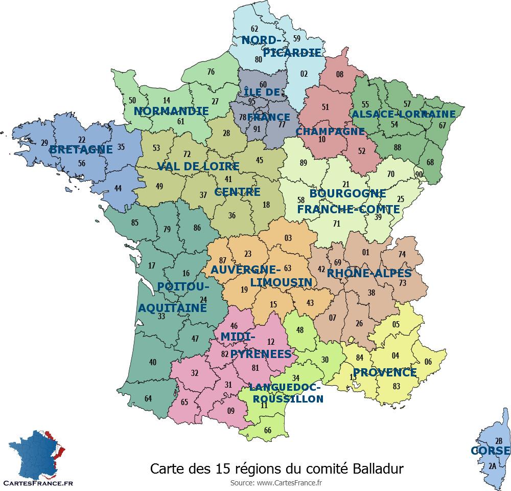 Régions et départements français