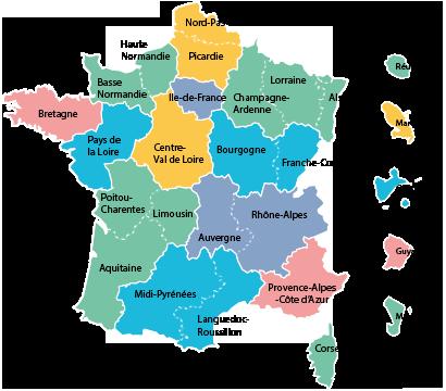 Nouvelles region de france 2016