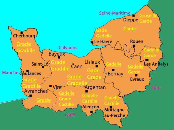 Carte de normandie departement