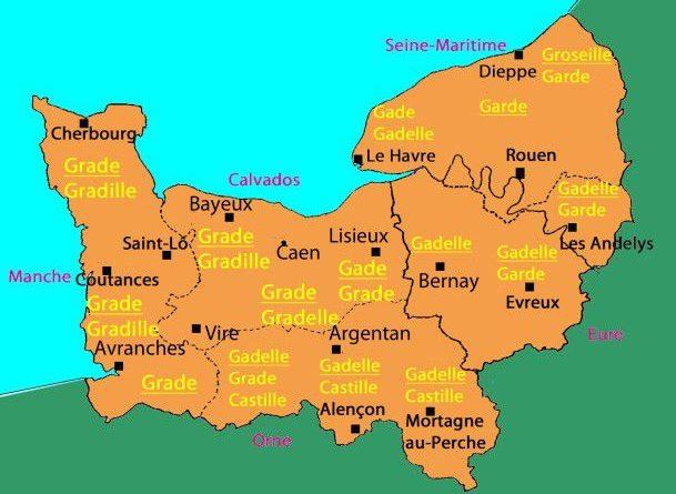 Normandie carte departement - altoservices