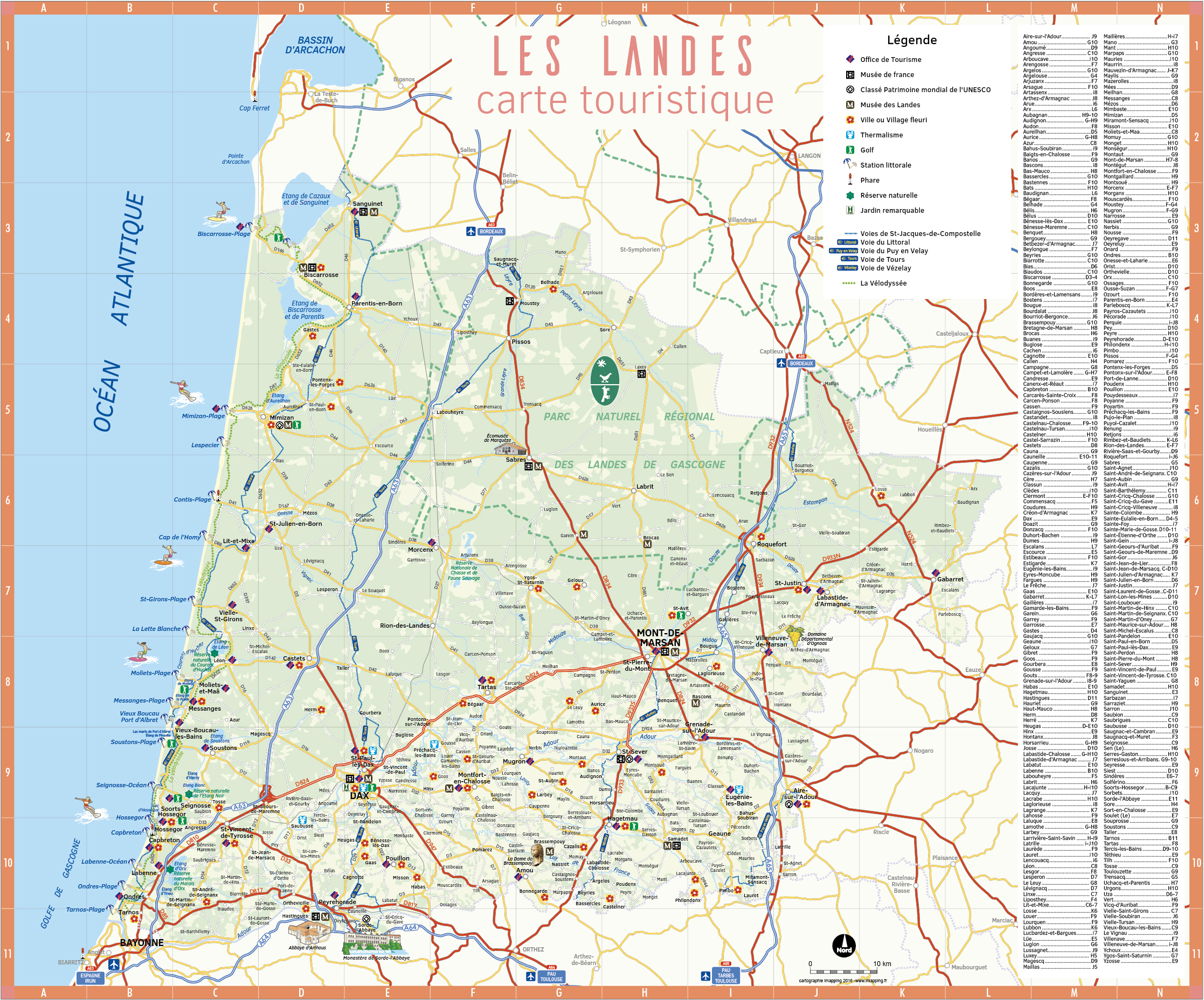 Carte route nationale