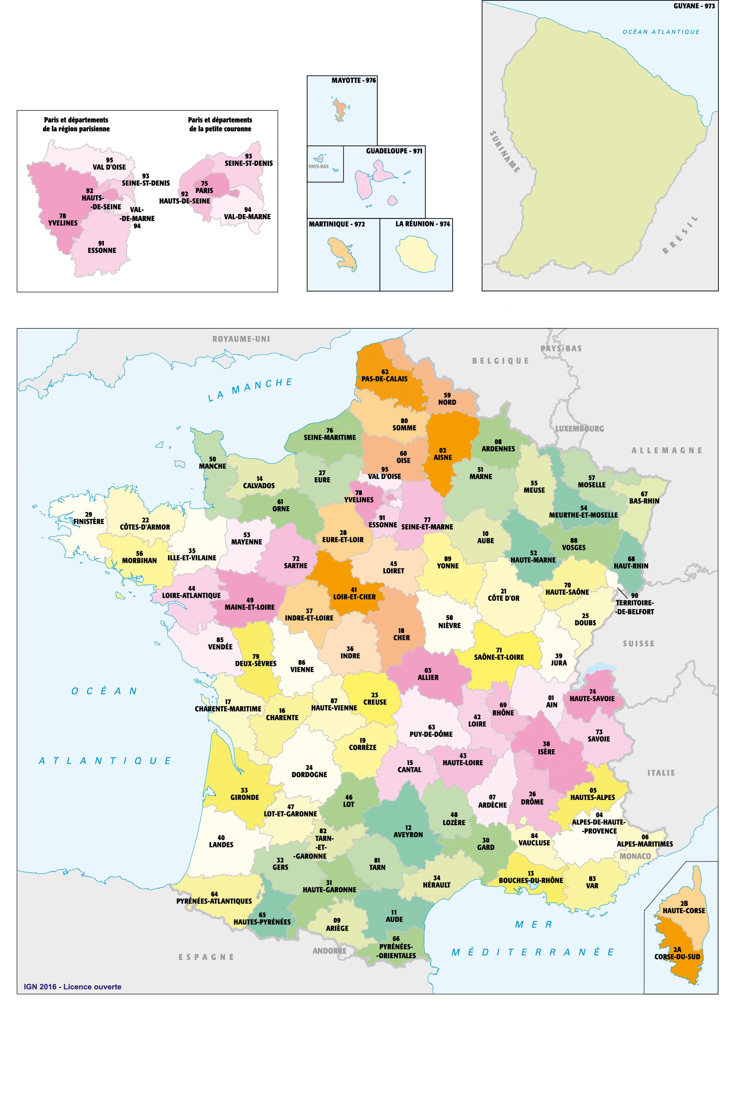 Liste des departement francais a imprimer
