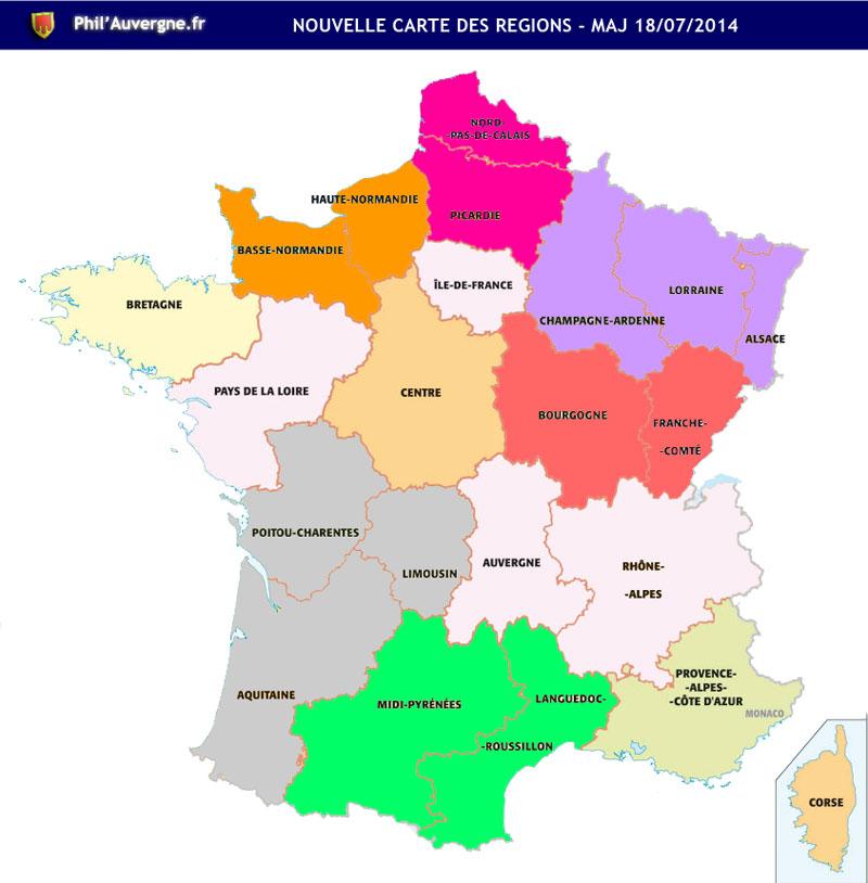 Carte des region 2015