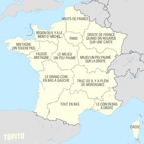 Nom des régions françaises 2016