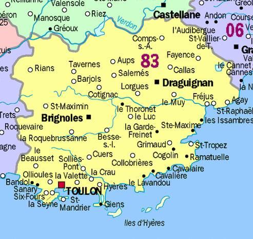 Toulon carte geographique