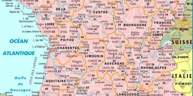 Carte de france avec villes et villages - altoservices