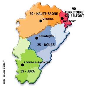 Franche comté numéro département