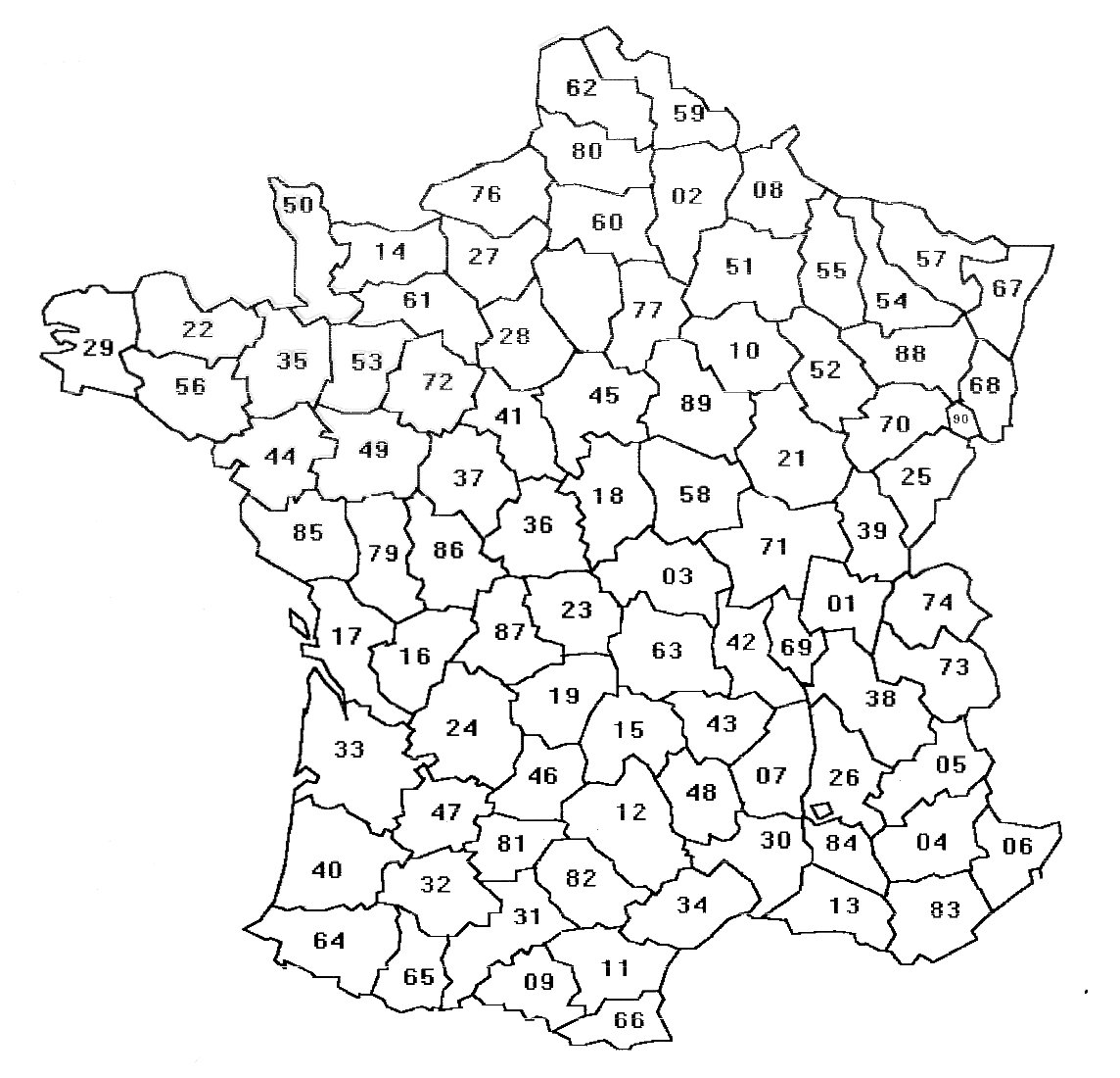 Departement 63 carte de france