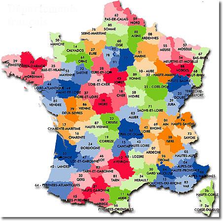 France régions et départements