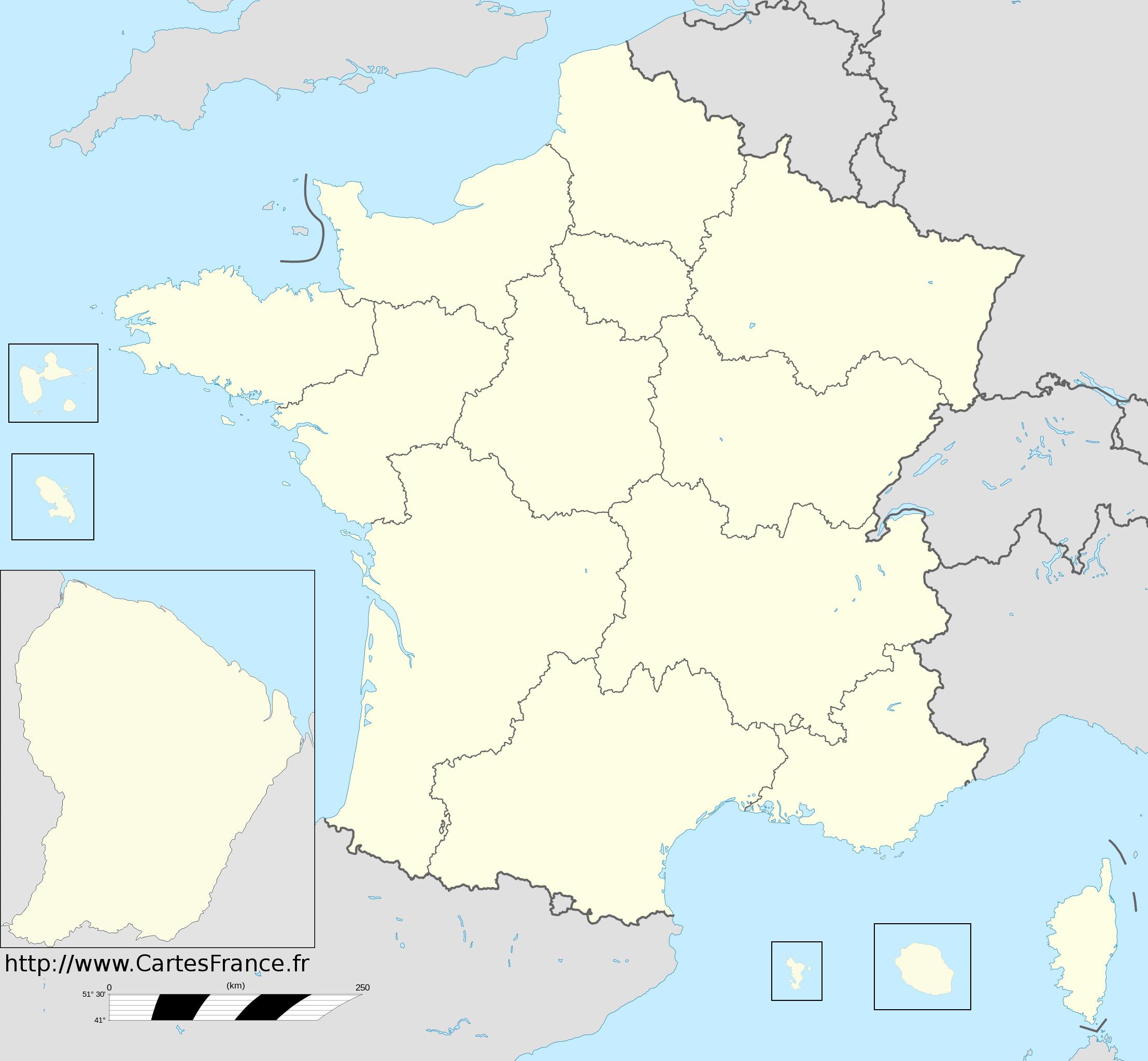 Nouvelles régions france carte