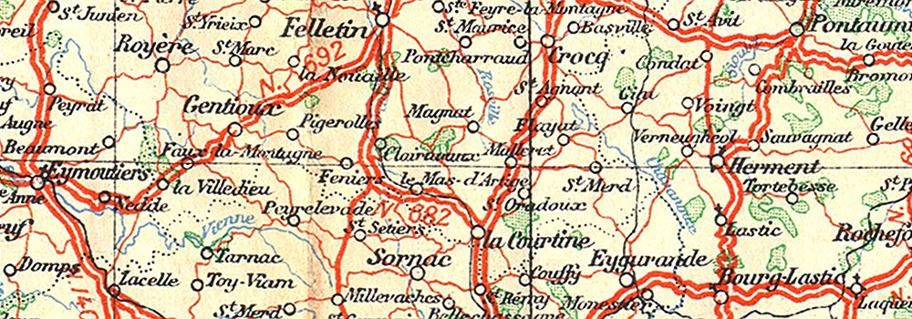 Carte routiere centre france