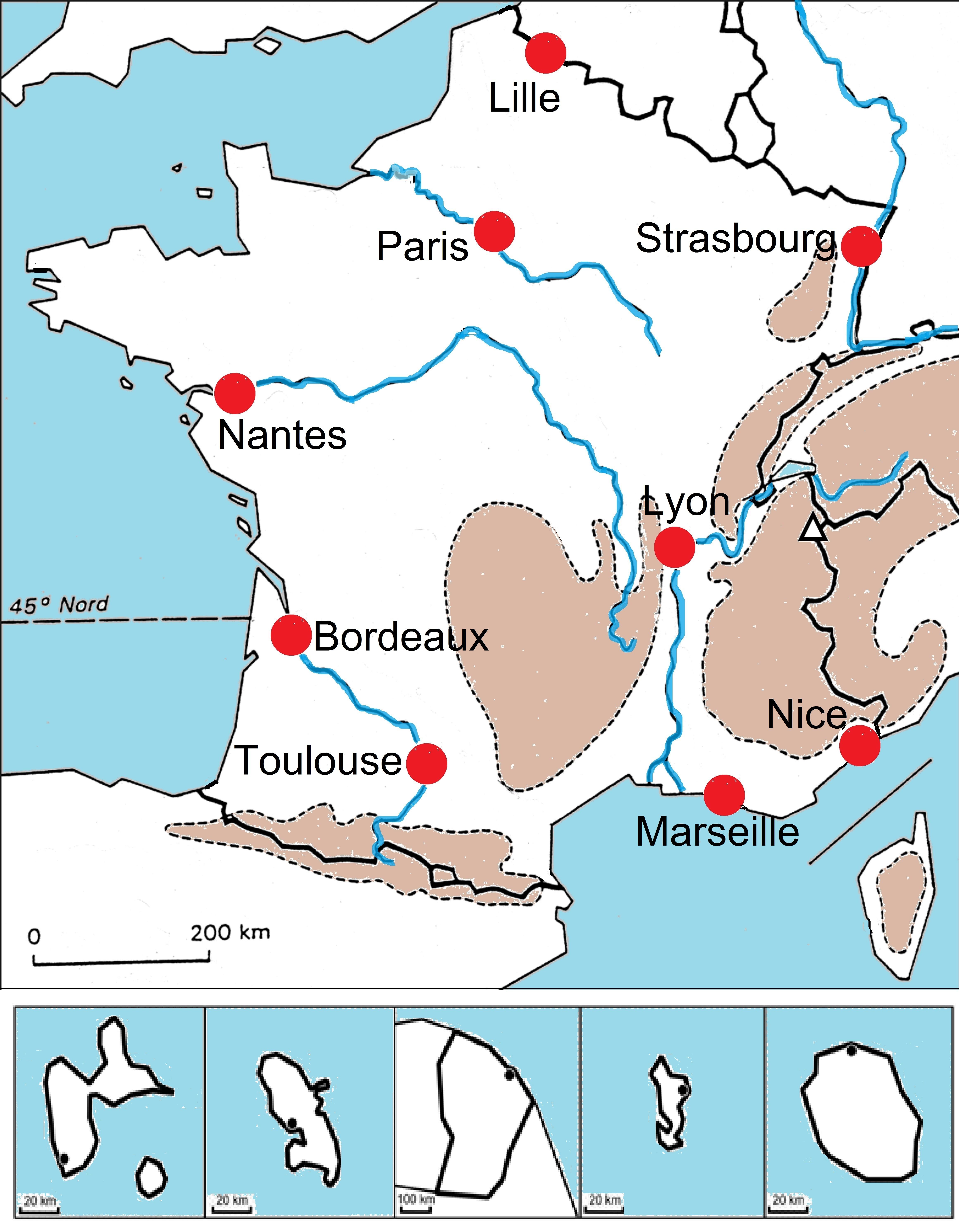 Carte des 10 plus grandes villes de france - altoservices