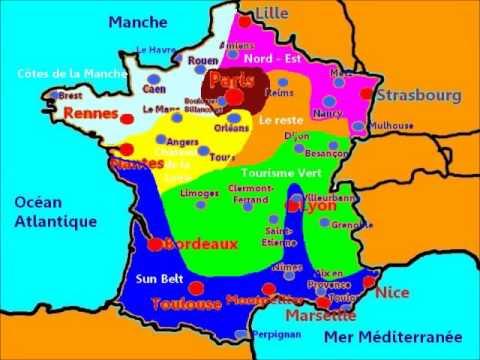 Carte sud france villes