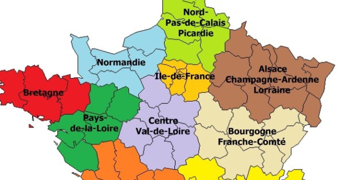 Carte 13 régions
