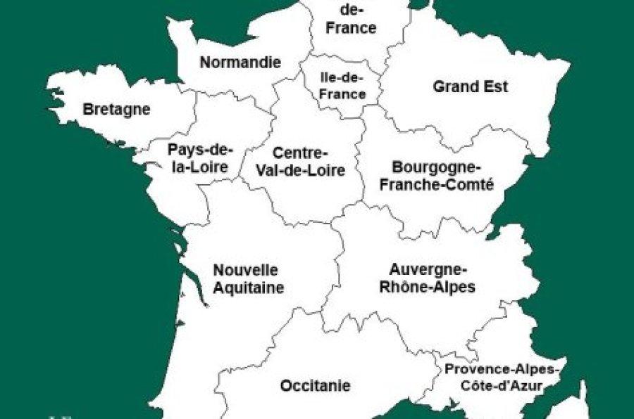 Liste des nouvelles régions de france