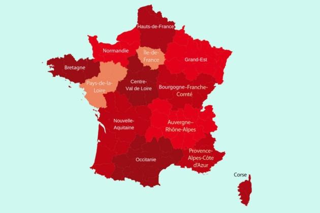13 régions françaises