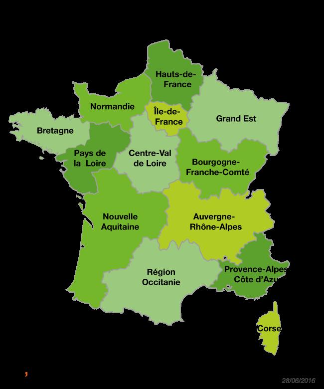 Noms des nouvelles régions 2016